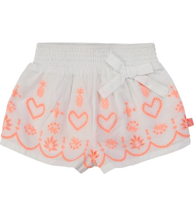 Short blanco niña Billieblush